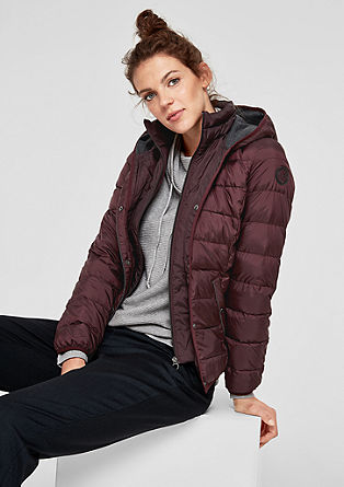 Light down jacket with contrast details from s.Oliver