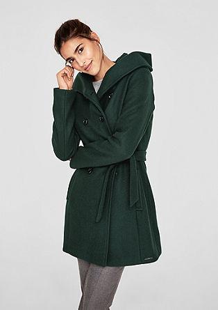 S oliver schwarzer mantel