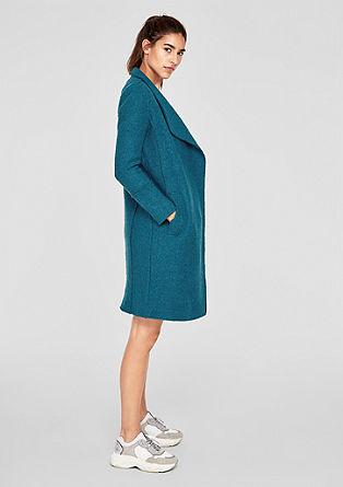 Mantel damen grau tailliert