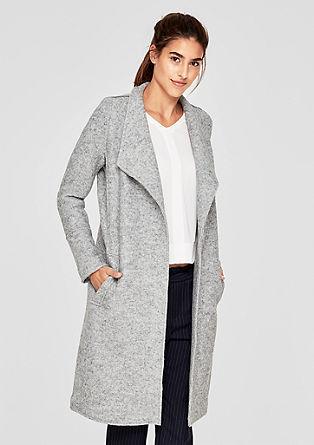 Mantel aus Bouclé-Strickfleece