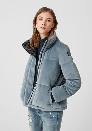Puffer Jacket aus Samt