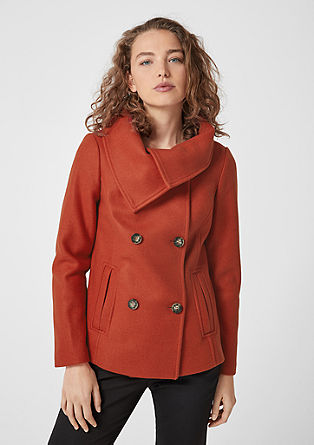 Peacoat with large collar from s.Oliver