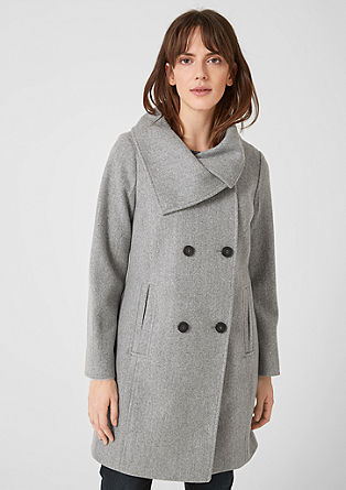 Double-breasted blended wool coat from s.Oliver