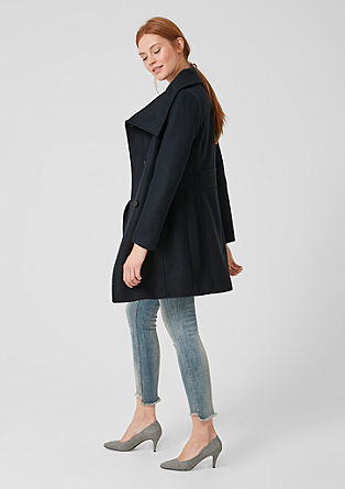 Coat with a large collar from s.Oliver