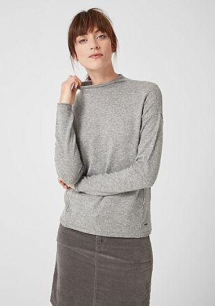 High Neck-Pullover mit Kaschmir