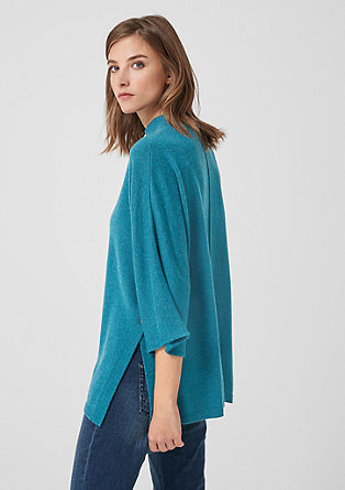 Knit poncho with cashmere from s.Oliver