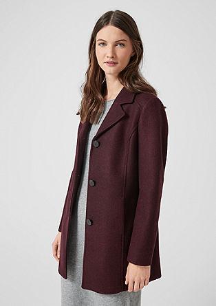 Klasický krátký kabát s klopami