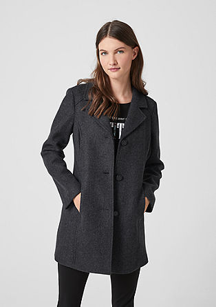 Classic short coat with a lapel from s.Oliver