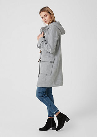 Classic wool blend duffle coat from s.Oliver