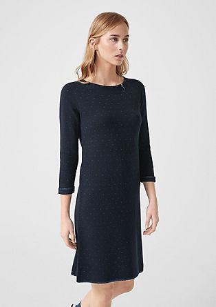 Gebreide jurk met metallic stipjes