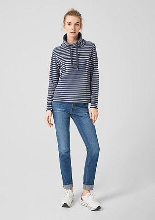 Turtleneck-Sweater mit Streifen