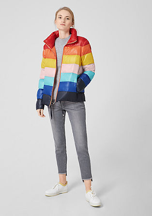 Puffer Jacket im Rainbow-Design