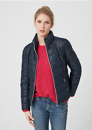 Quilted jacket with texture from s.Oliver