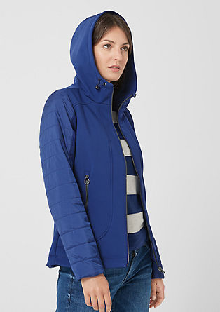 Softshell jacket with topstitched details from s.Oliver
