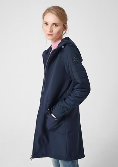 Mantel im Fabric-Mix