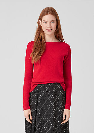 Fine knit melange jumper from s.Oliver