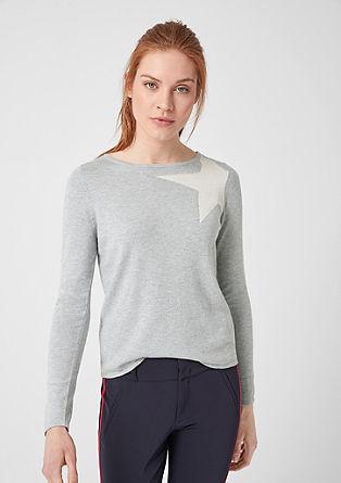 Pletený pulovr s třpytivým efektem