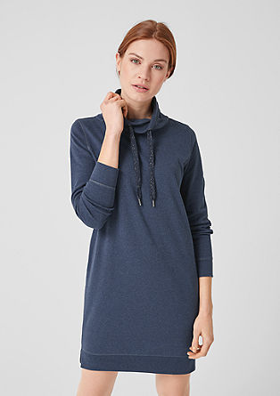 Sweatshirt dress with a shawl collar from s.Oliver
