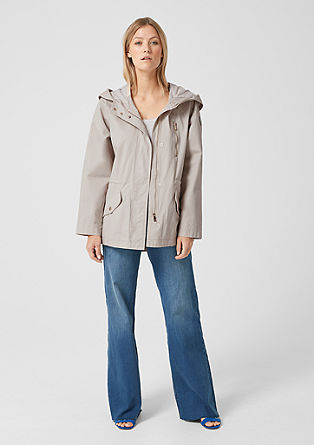 Twill parka with a hood from s.Oliver