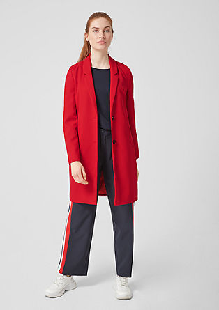Coat with textured pattern from s.Oliver