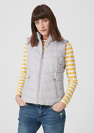 Quilted body warmer with a honeycomb texture from s.Oliver