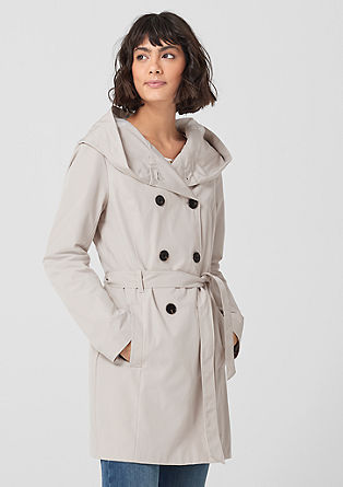 Trench coat with a hood from s.Oliver