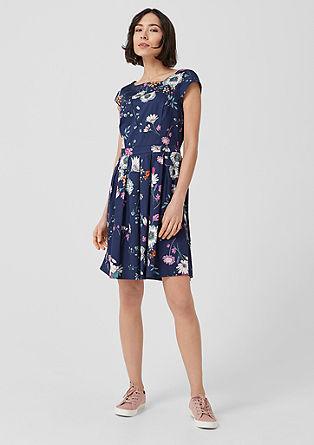 A-Linien-Kleid aus Baumwollsatin