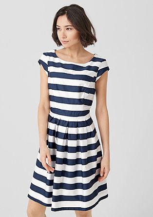 Kleid im Streifen-Look