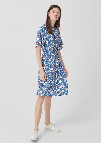 Crêpe-Kleid mit Print