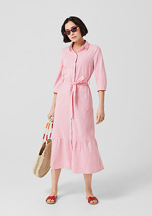 Longue robe chemisier à rayures de s.Oliver