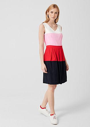 Satijnen jurk van katoen