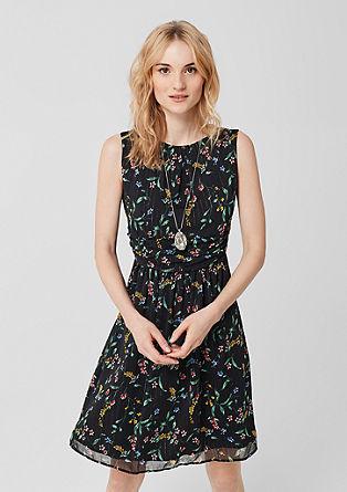 Chiffon jurk met glitterprint