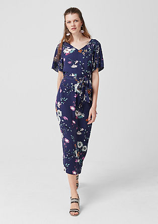 Floral maxi dress made of crêpe from s.Oliver
