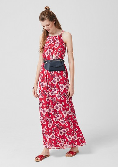 Chiffon-Kleid mit Musterprint