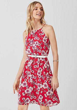 Off-shoulder jurk van chiffon