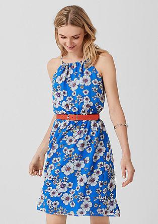 Off Shoulder-Kleid aus Chiffon