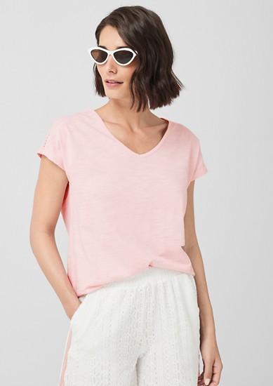 T-shirt animé d'un détail en dentelle au crochet de s.Oliver