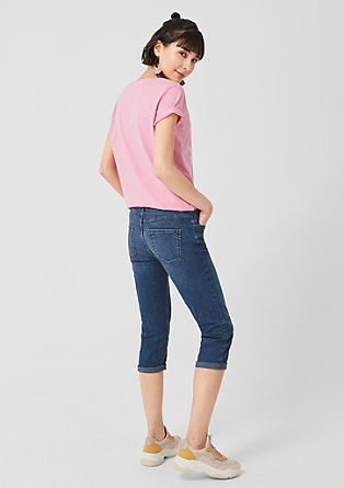 Shape Capri: stretch denim shorts from s.Oliver