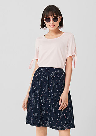 Mesh skirt with all-over print from s.Oliver