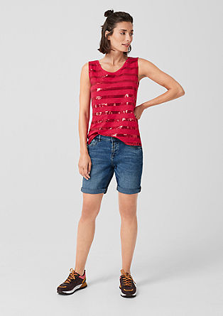 Smart Short: jeans with a button placket from s.Oliver