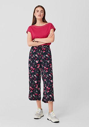 Krepová kalhotová sukně s natištěným vzorem