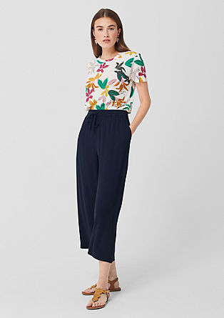 Culottes: Lightweight crêpe trousers from s.Oliver