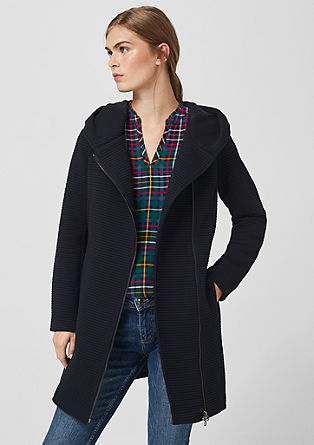 Double-faced coat with texture from s.Oliver
