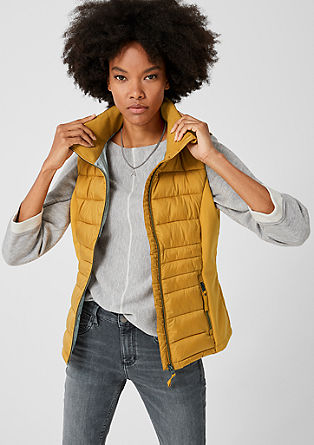 Quilted body warmer with softshell details from s.Oliver