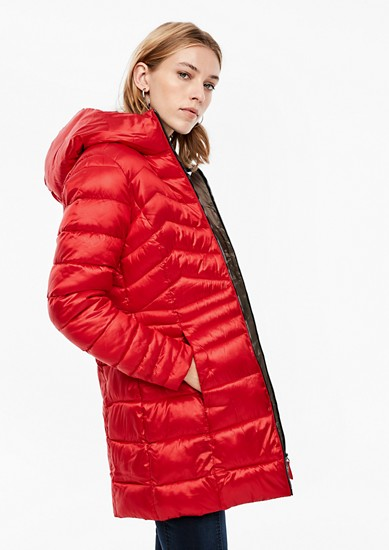 Quilted coat with satin finish from s.Oliver