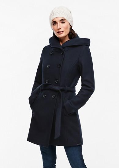 Dvouřadý kabát skapucí