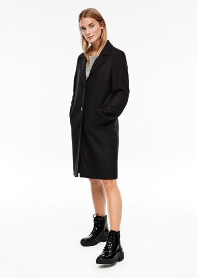 Klassischer Mantel in Woll-Optik