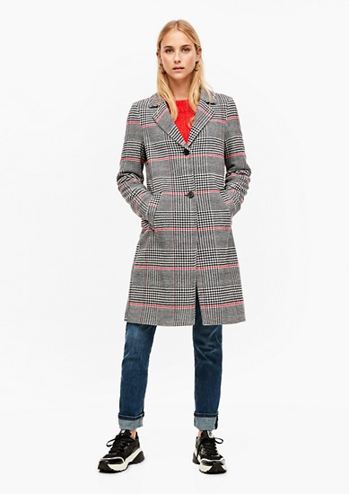 Mantel mit Glencheck-Muster