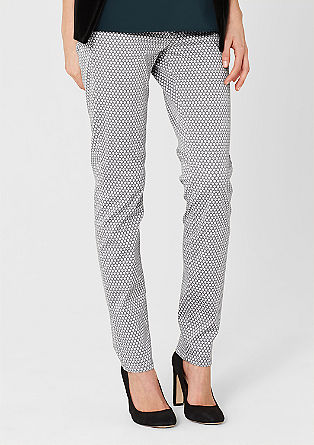 Sienna: patterned stretch jeans from s.Oliver