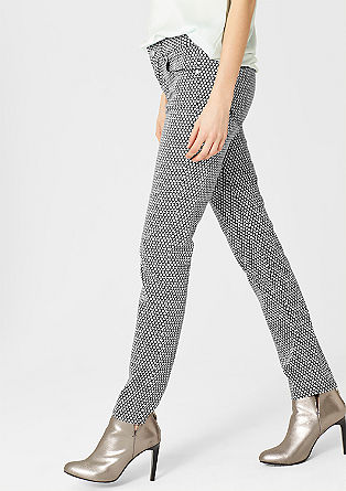 Sienna: Gemusterte Stretch-Jeans